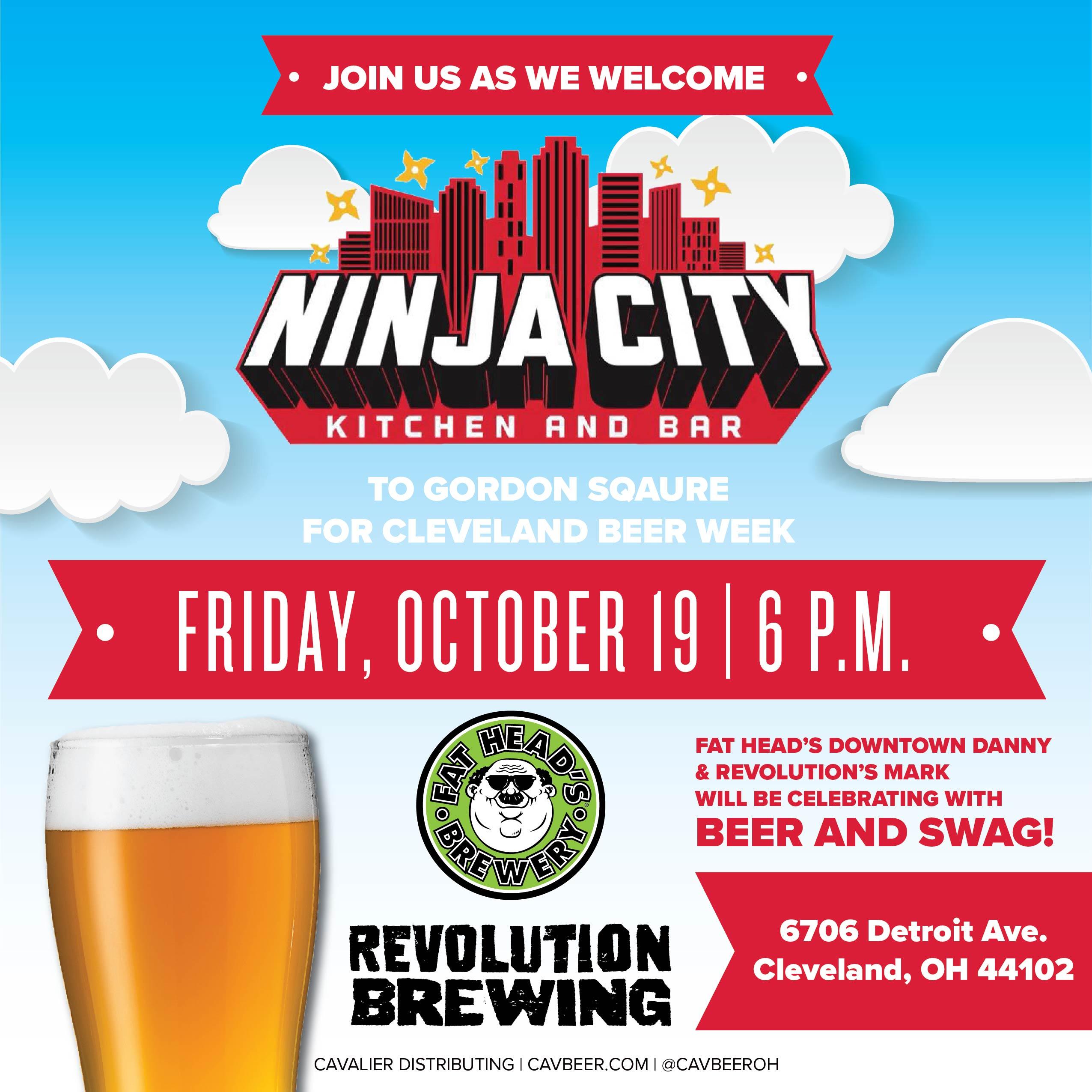 Cleveland Beer Week Fat Head S And Revolution At Ninja City